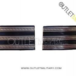 Coppia di Gradi Metalli Carabinieri Maresciallo Capo