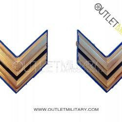 Coppia di Gradi Metalli Esercito Italiano Sergente (Aviotruppe)
