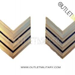 Coppia di Gradi Metalli Esercito Italiano Sergente Maggiore