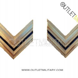 Coppia di Gradi Metalli Esercito Italiano Sergente
