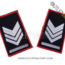 Coppia di Gradi Tubolari Invernali Carabinieri Brigadiere Capo