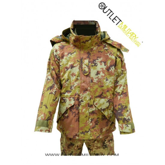 Parka Militare Vegetato 2012 Modello Italiano con Interno Staccabile