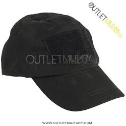 Cappello Baseball Nero con Velcro